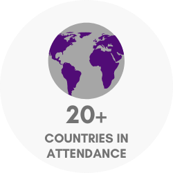20+ countries in attendance